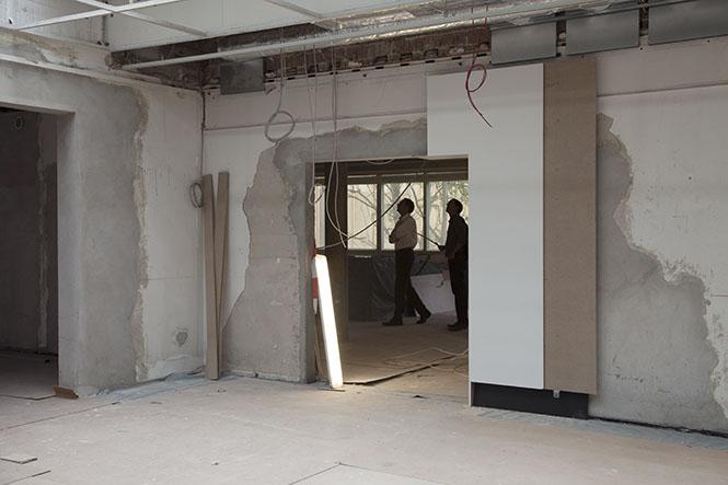 Michael Disqué dokumentiert den Umbau des Amerika Hauses. Weitere Fotos auf der C/O-Website oder unter: www.michael-disque.de