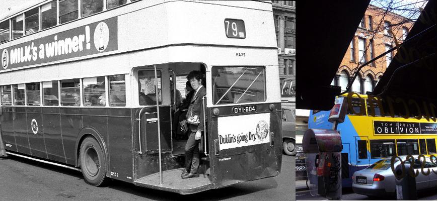 Dieter Hinrichs, Dublin im Jahr 1972 und 2013 - die Photographie und die Dinge im Wandel der Zeit