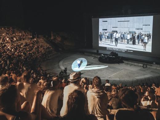 Abendliche Präsentation im Théâtre Antique d'Arles. Foto: Markus Hartmann