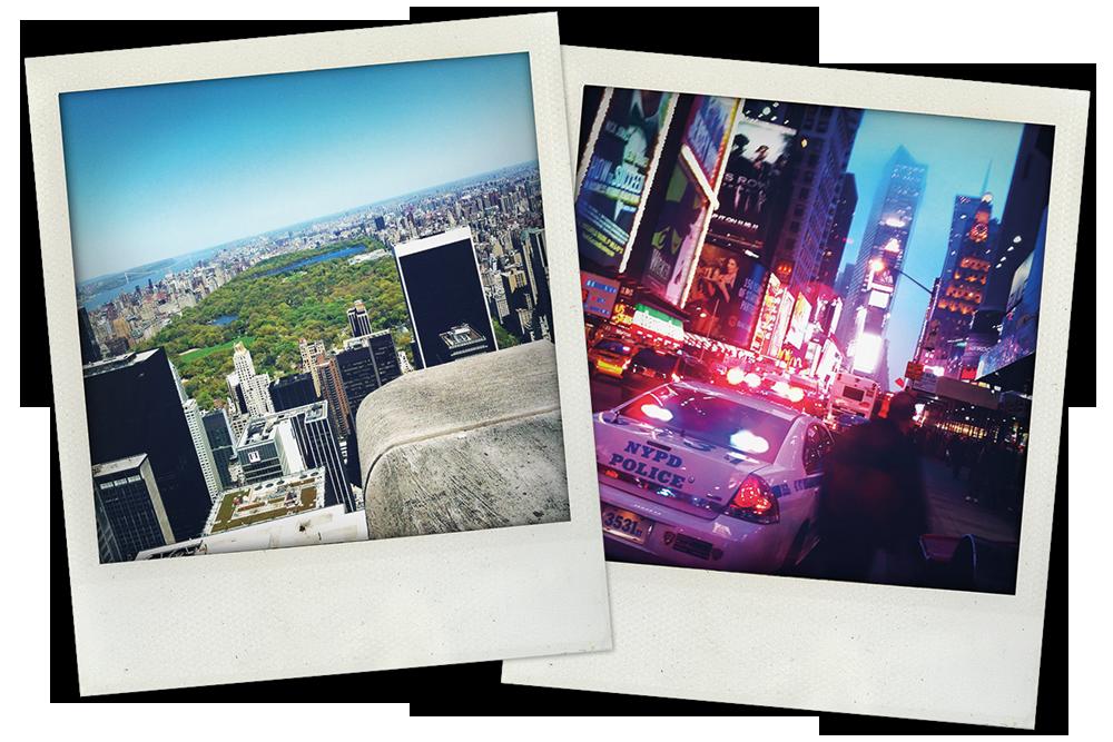 Susanne und Florian Wagner: Ausblick vom Rockefeller Center nach Norden auf den Central Park + Times Square