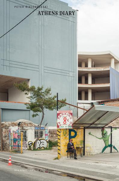 Peter Bialobrzeski. Athens Diary. Velvet Cell. Osaka 2015. (Cover)