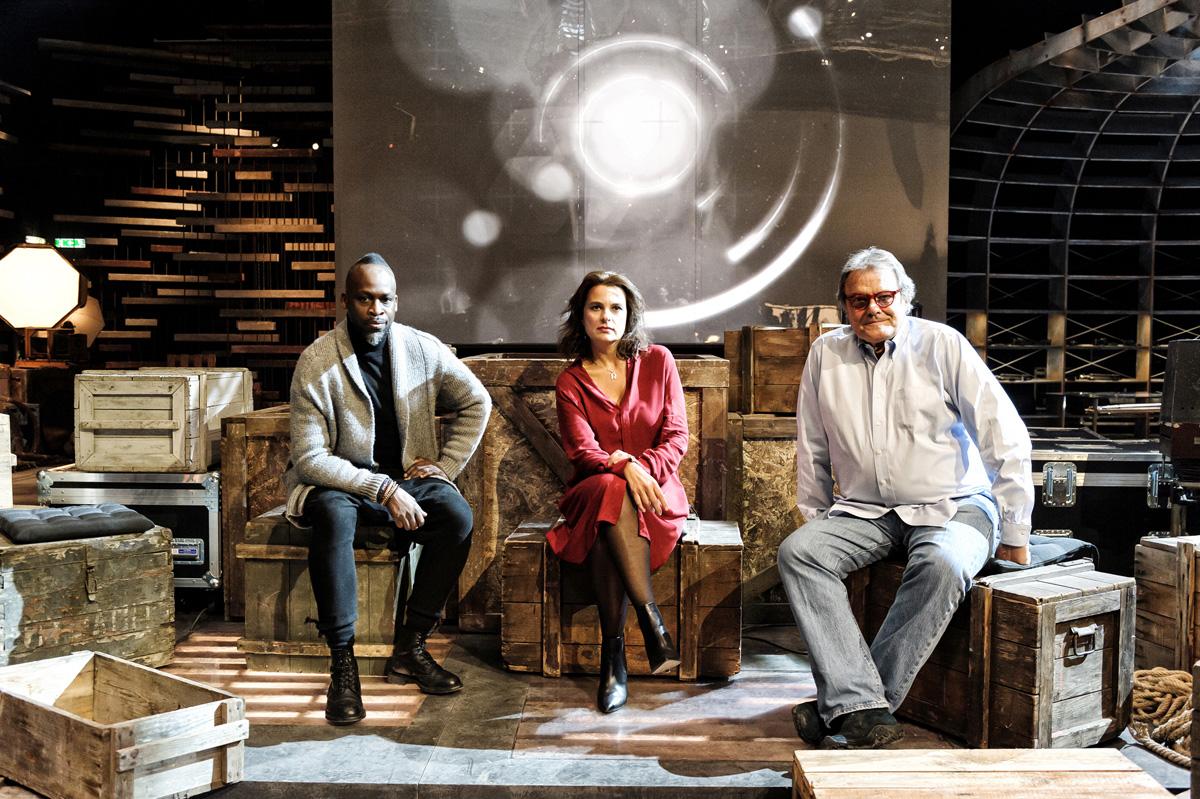 Die Jury. Simon Frederick, Rut Blees Luxemburg und Oliviero Toscani (v.l.n.t.) Foto: Alessandro Gaja für Sky Arte