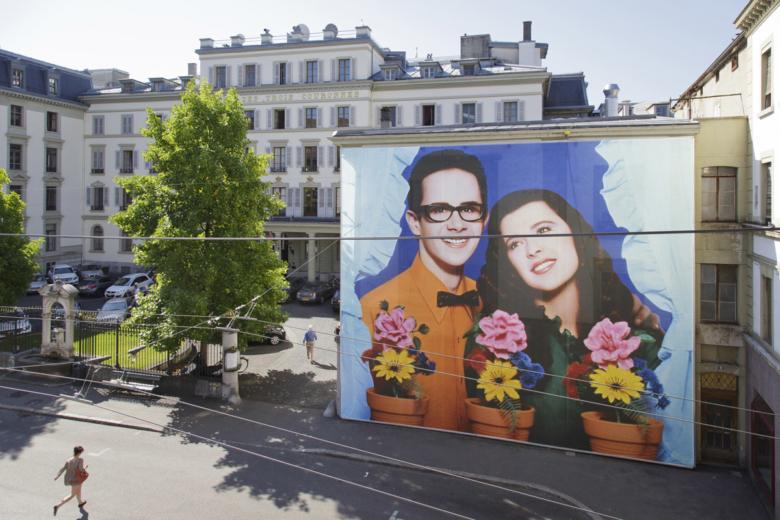 Pierre et Gilles auf der Fassade von Trois Couronnes. Foto: Céline Michel