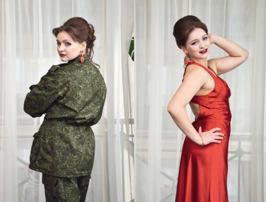 """Alyona, Bataillon """"Oplot"""", 2015. Aus einer Portraitserie, Workshop von Eric Vazoller in Donezk, Ukraine. Foto: Vladislav Motorney"""