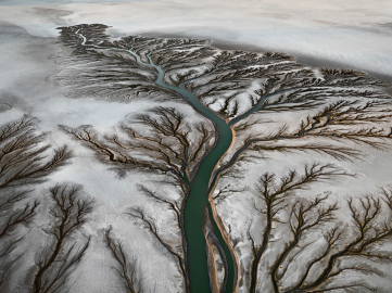 Edward Burtynsky, Colorado River Delta #2, Near San Felipe, Baja, Mexico, 2011. © Edward Burtynsky, courtesy Admira, Milan / Galerie Springer Berlin / Metivier Gallery, Toronto